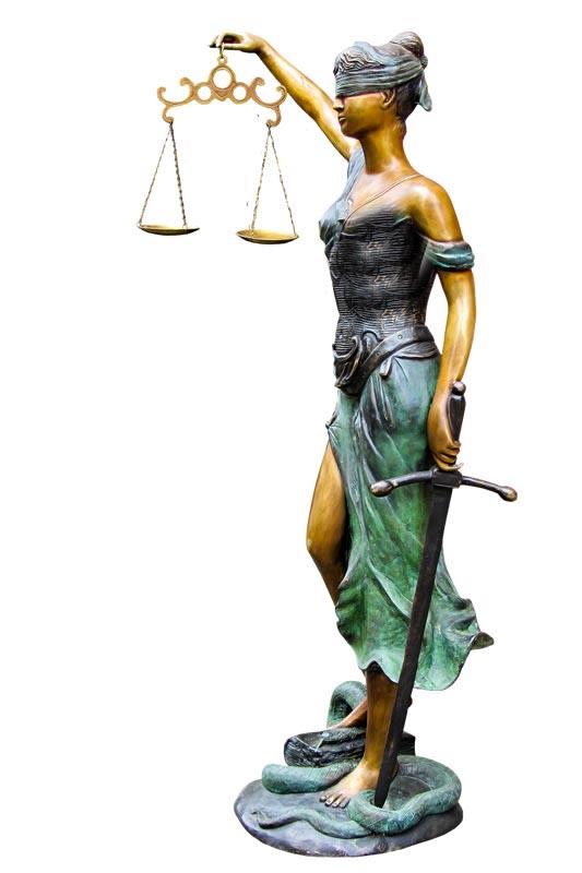 vrouwe justicia en scheiding
